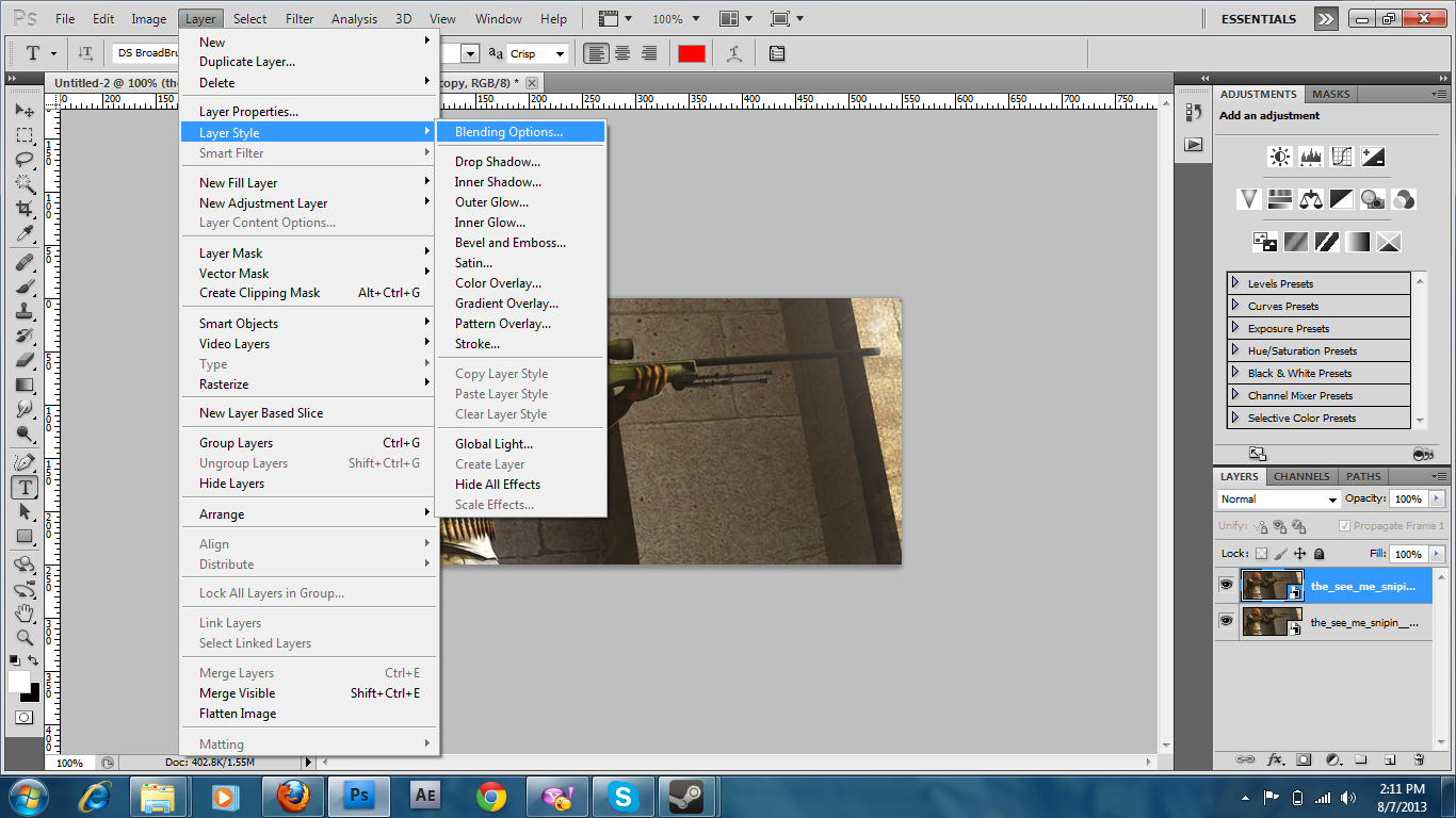 Наложение изображений - Уроки Photoshop 13